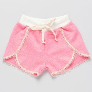 shorts renda infantil